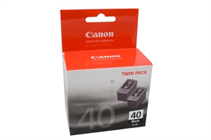 CANON PG-40 INK CARTRIDGE FINE BLACK PACK 2