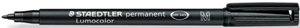 STAEDTLER 317-9 LUMOCOLOR PERMANENT MEDIUM BLACK