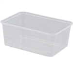 Castaway Container Rectangular MWave 1000ml 50Slv