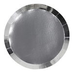 Five Star Paper Round Banquet Plate 105 Metallic Silver 10 Pack